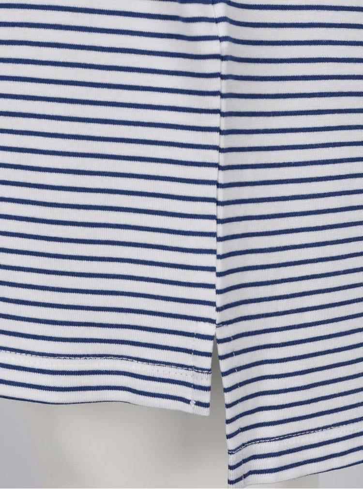 Modro-bílá pruhovaná volná tunika s 3/4 rukávem VILA Deam