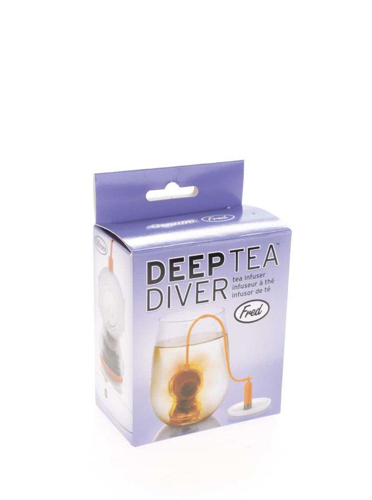 Infuzor portocaliu cu stabilizator pentru ceai  - FRED