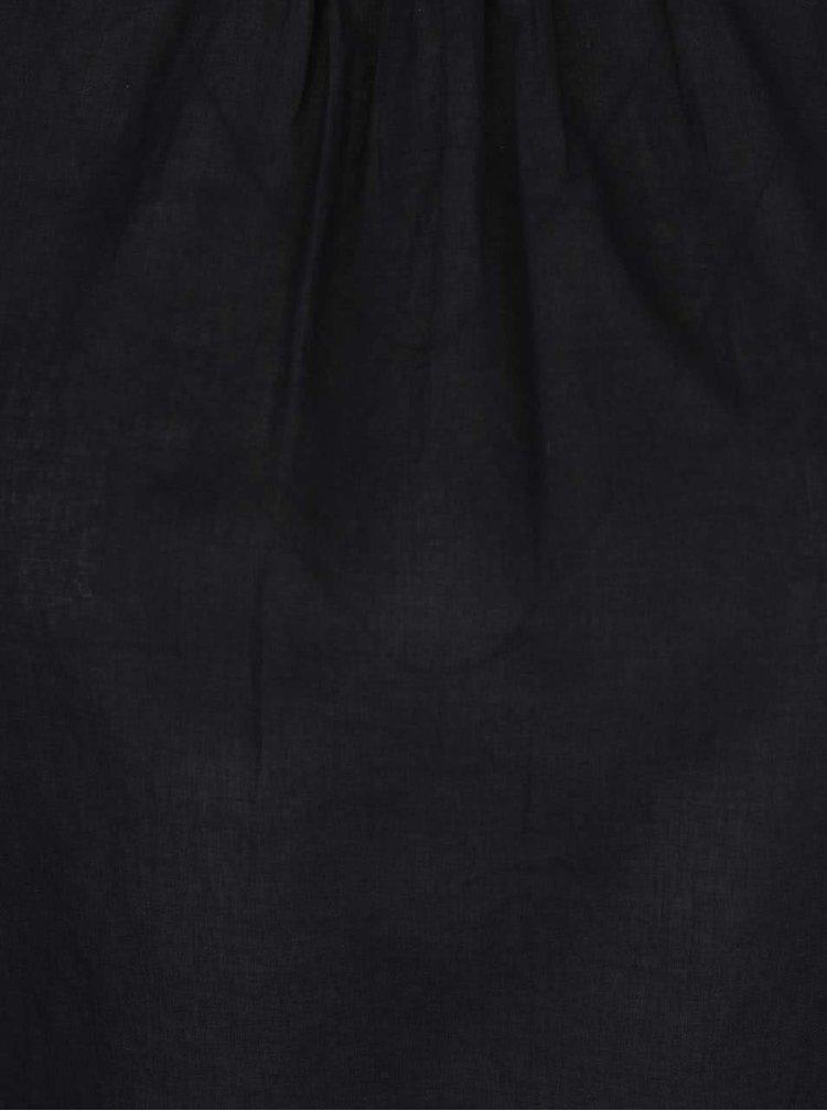 Černá halenka s 3/4 rukávem VERO MODA Petra
