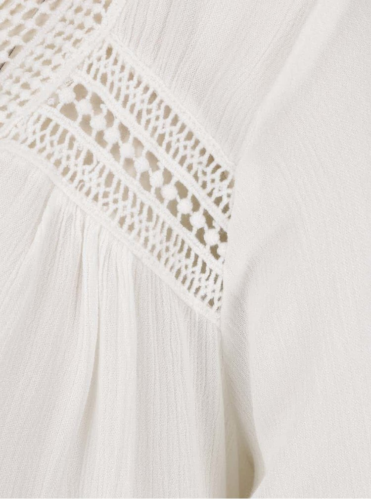 Krémová volná halenka s krajkovými detaily VILA Carrie