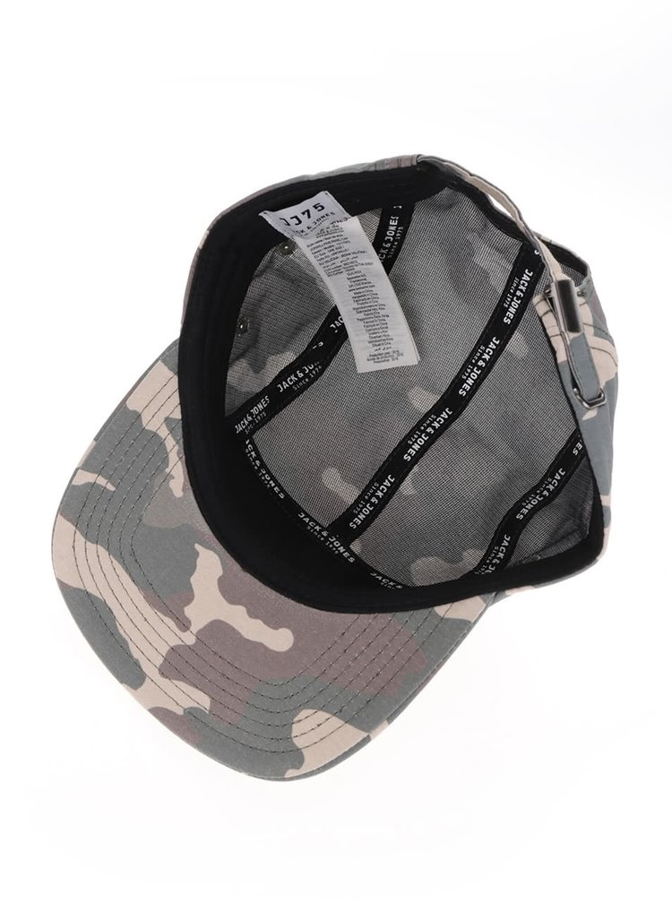 Șapcă verde camouflage Jack & Jones Will Five