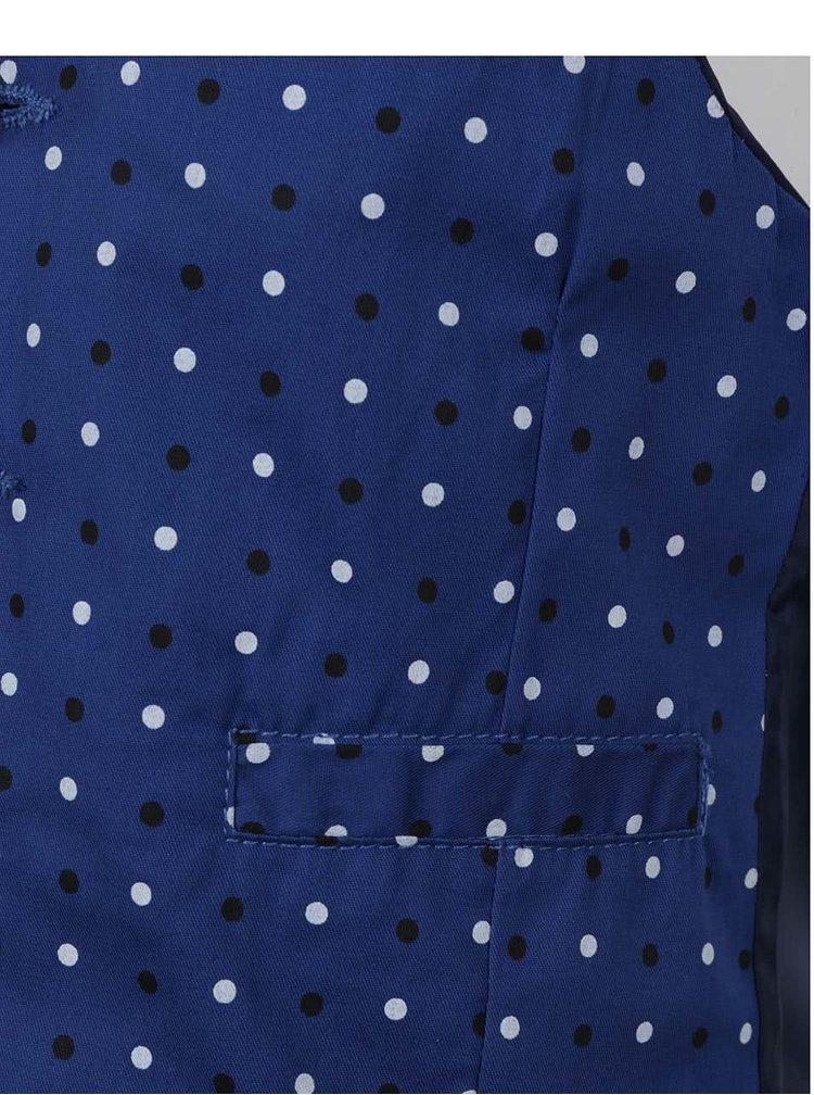Modrá klučičí puntíkovaná vesta  s motýlkem North Pole Kids