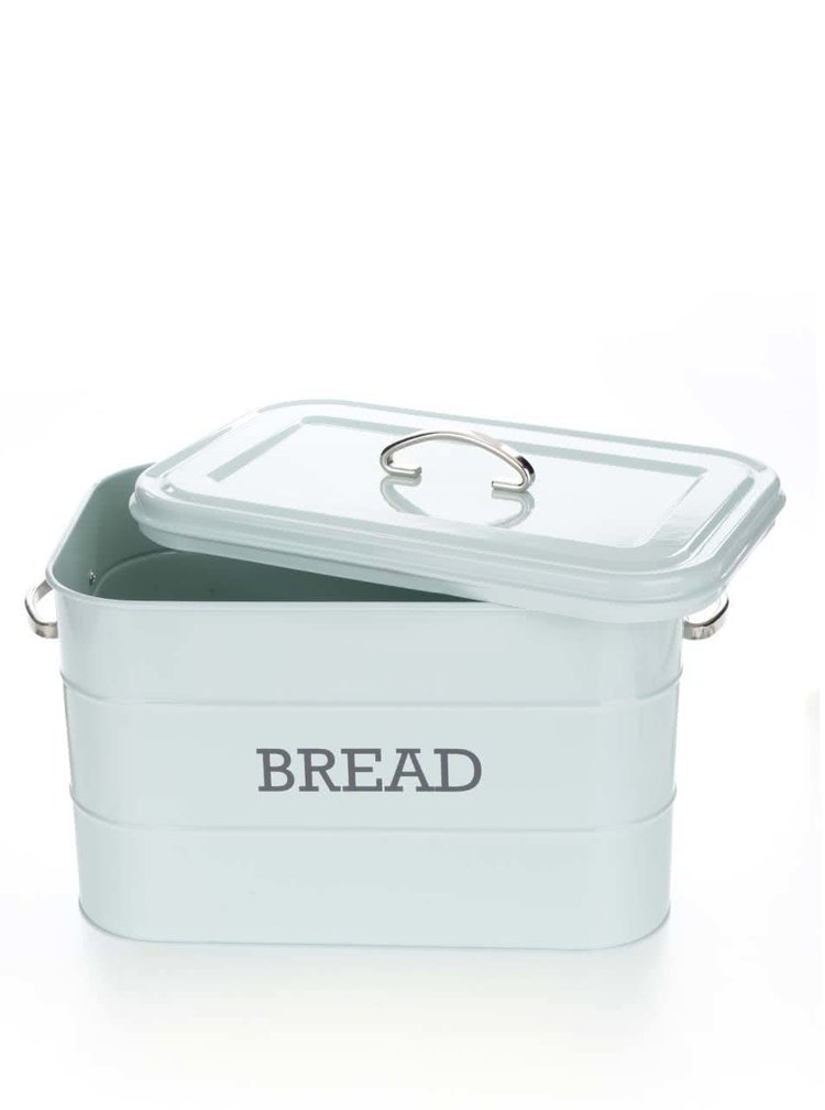 Světle zelený plechová dóza na chléb Kitchen Craft