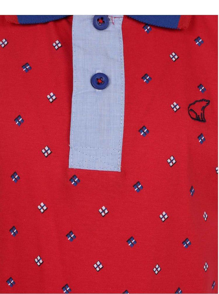 Tricpu polo roșu&albastru North Pole Kids pentru băieți