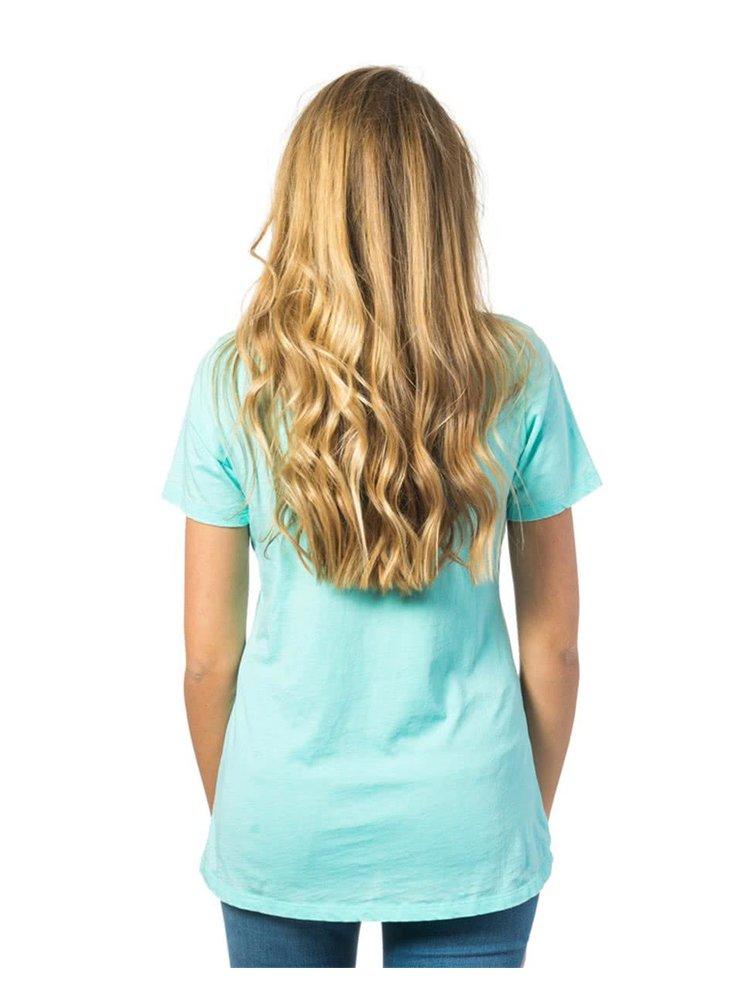 Tricou turcoaz Rip Curl Tera cu buzunar aplicat