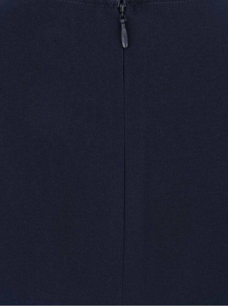 Salopeta albastru inchis VILA Melis cu panglici in talie