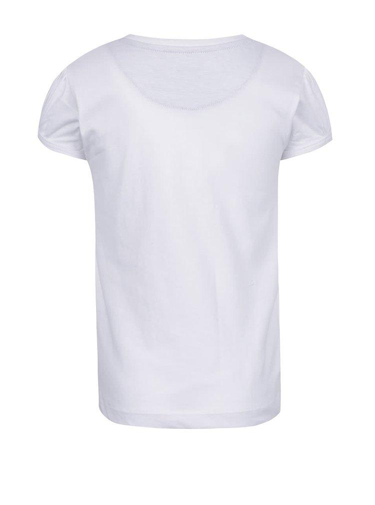 Bílé holčičí tričko s potiskem North Pole Kids