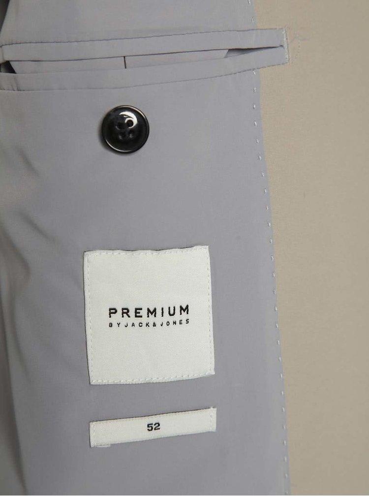 Béžové slim fit sako Jack & Jones Premium Corban