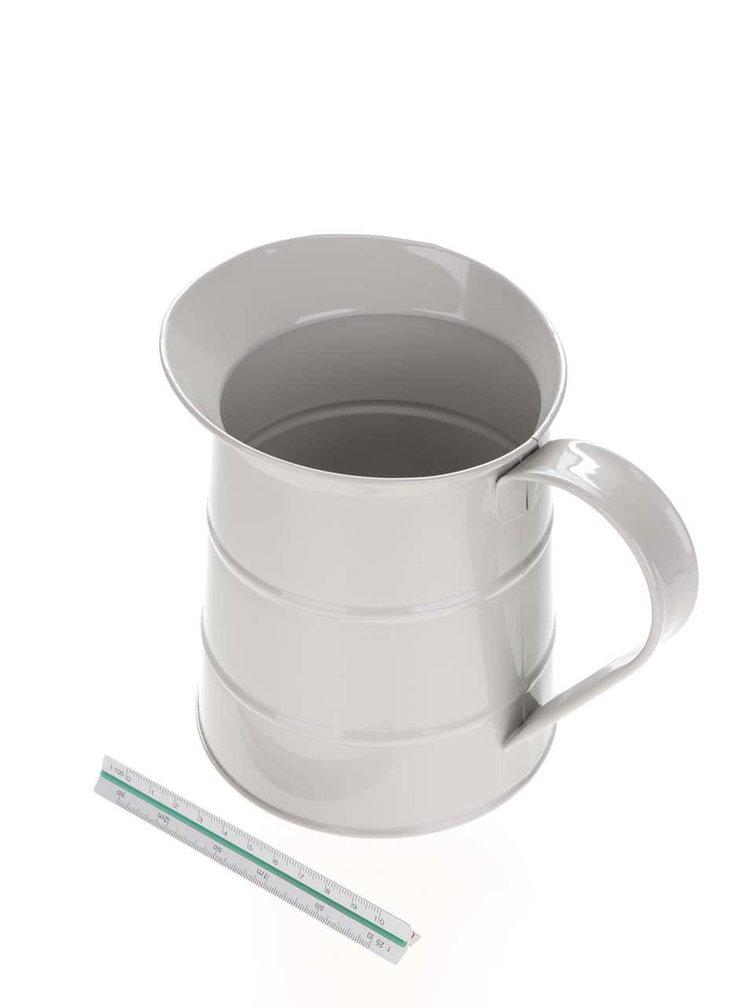 Světle šedý plechový džbán Kitchen Craft 1,1 l