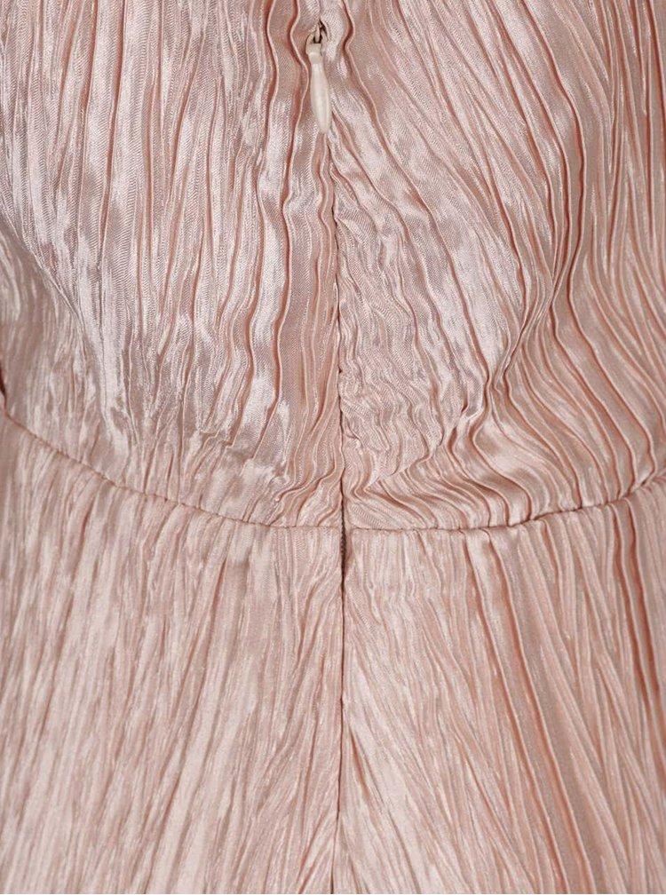 Světle růžové metalické maxišaty VERO MODA Lizzie