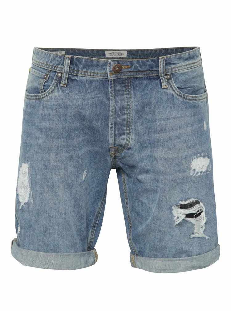 Pantaloni scurti Jack & Jones Rick Original albastri din denim