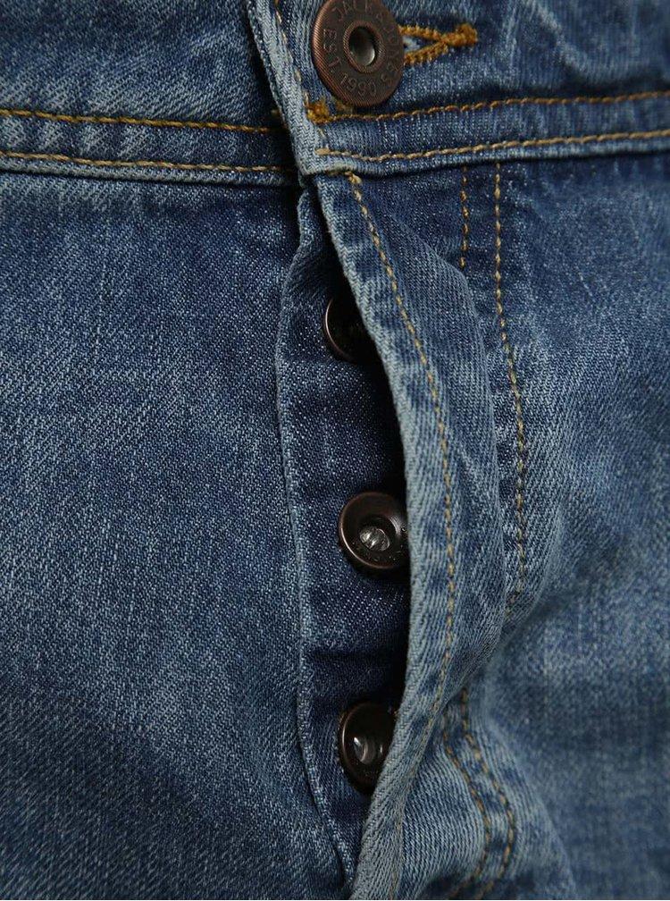 Modré džínové kraťasy s potrhaným efektem Jack & Jones Rick Original