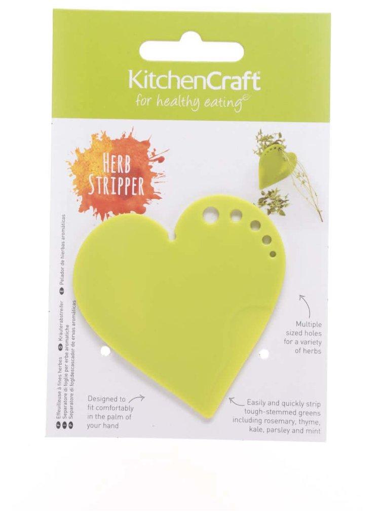 Zelené držátko na rostliny ve tvaru srdce Kitchen Craft