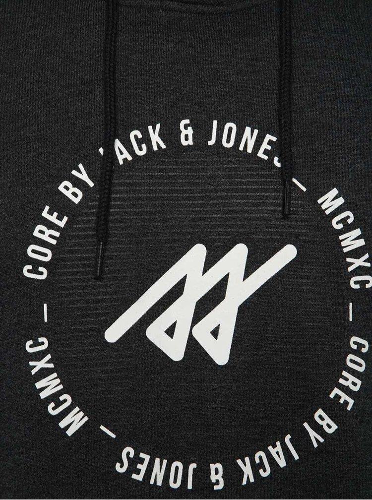 Tmavě šedá mikina s kapucí Jack & Jones Jonas