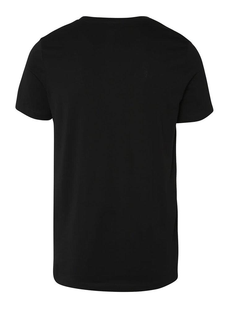 Černé triko s potiskem Jack & Jones Gil