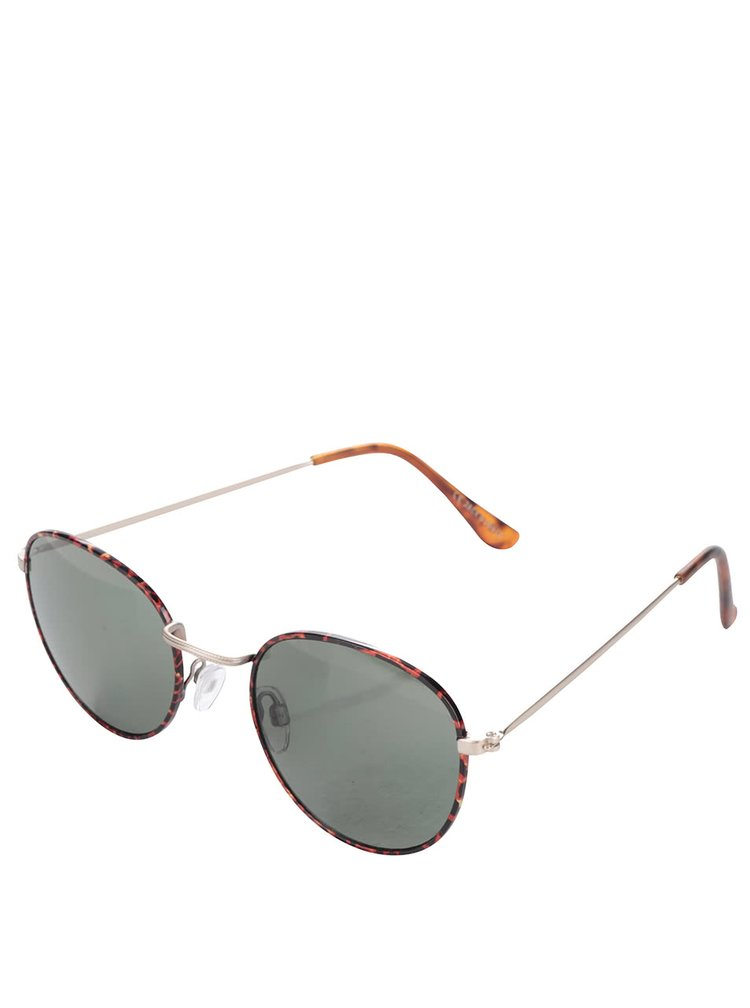 Oranžové žíhané pánské sluneční brýle Jack & Jones Brad IV.