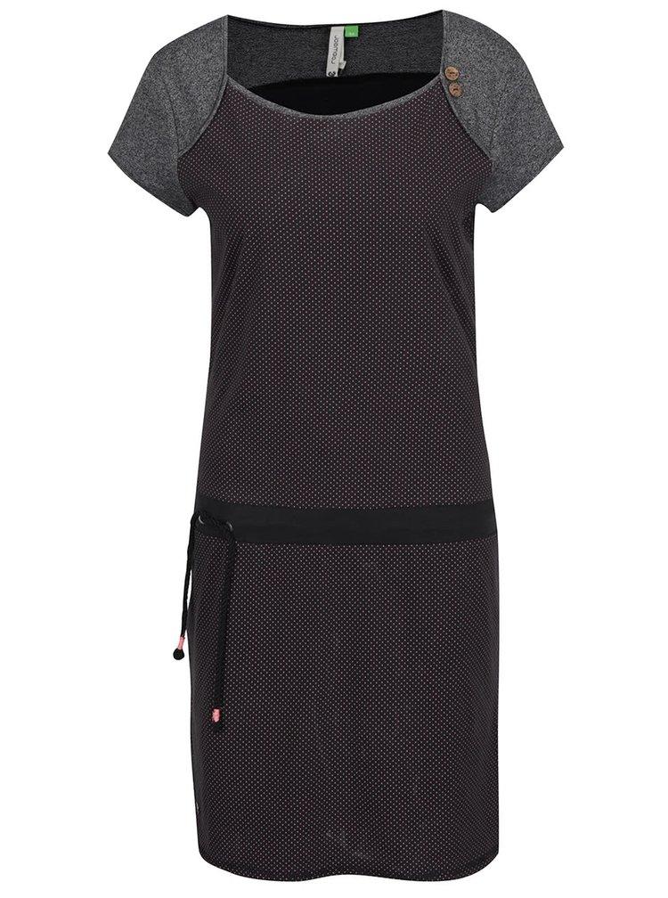 Černé puntíkované šaty Ragwear Mike