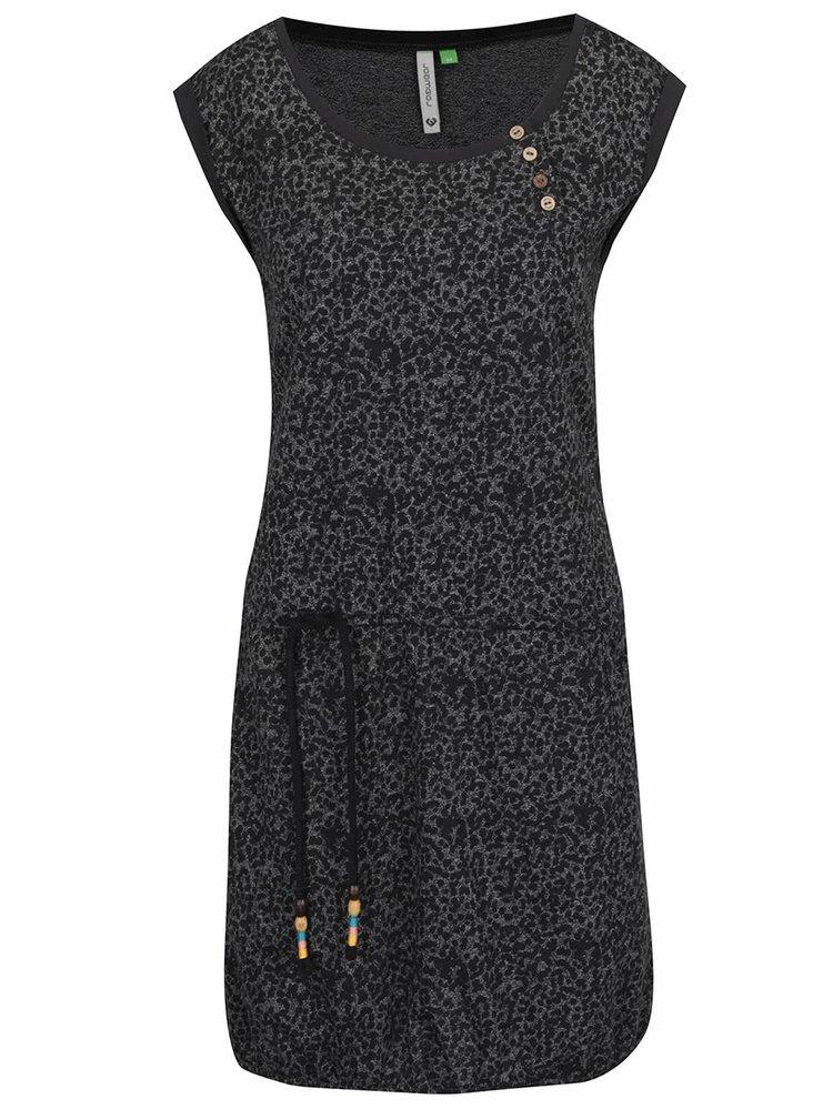 Černé vzorované šaty s kapsami Ragwear Giza