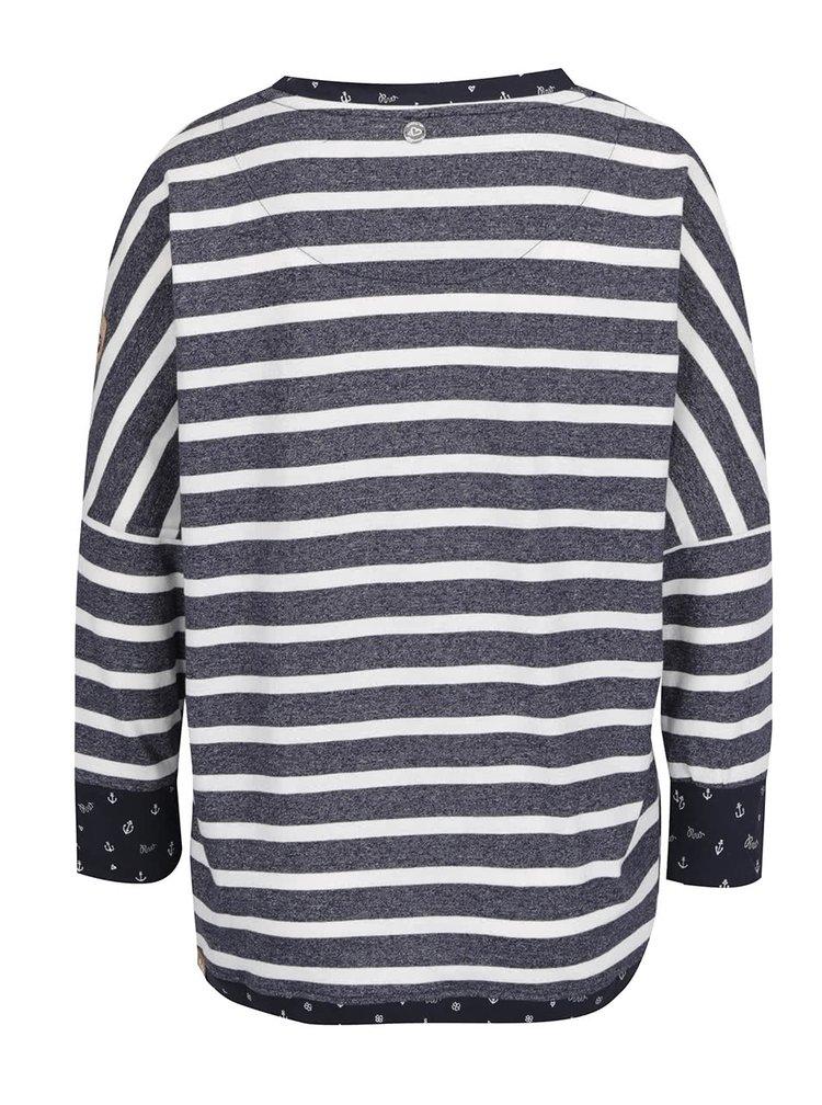 Tmavě modré dámské pruhované tričko Ragwear Blanche