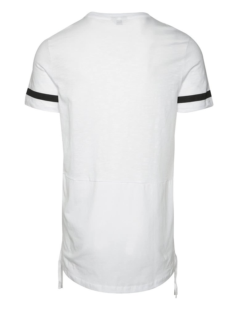 Bílé triko s černými lemy Jack & Jones Fring