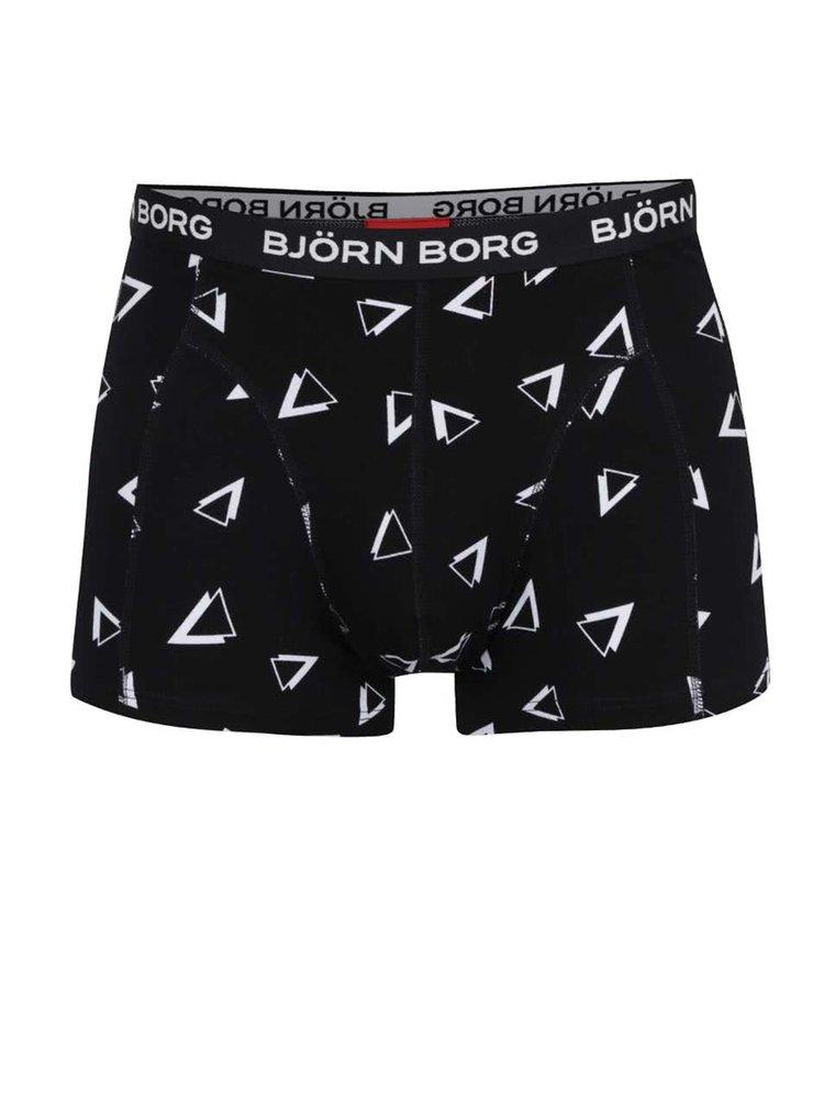 Sada dvou boxerek v černé barvě s trojúhelníky Björn Borg