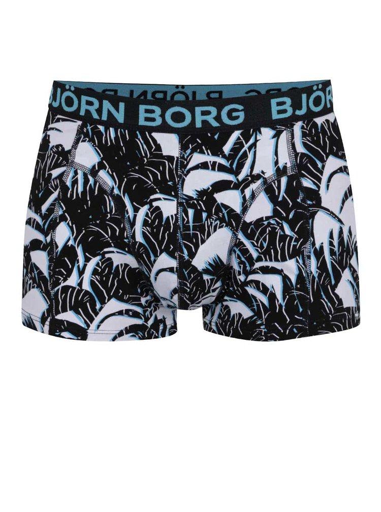 Sada dvou boxerek v černé a modro-černé barvě Björn Borg