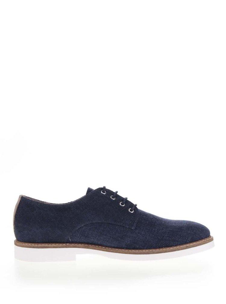 Pantofi albastru închis Selected Homme Axel cu aspect denim