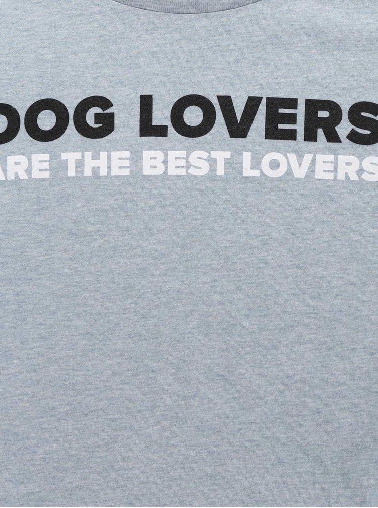 Světle modré pánské triko ZOOT Originál Dog lovers are the best lovers