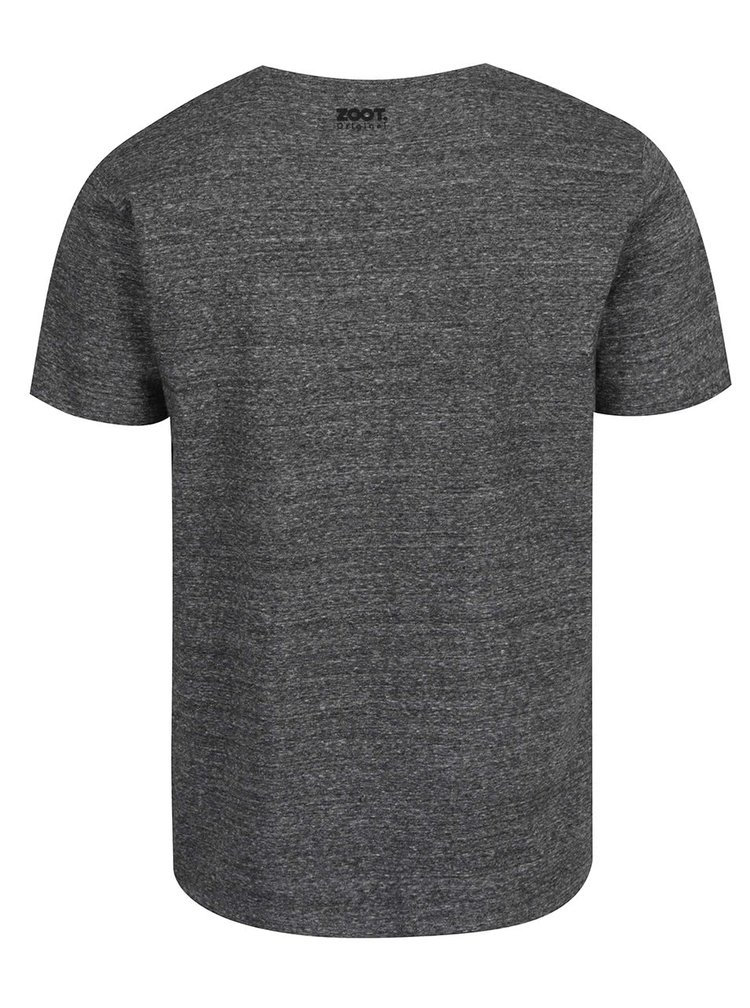 Tmavě šedé pánské tričko  ZOOT Originál Velryba