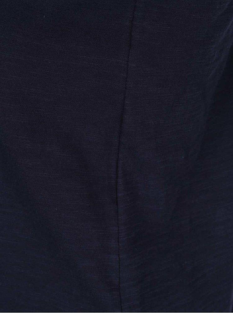 Tmavě modré volné tílko s detailem na zádech VERO MODA Braida