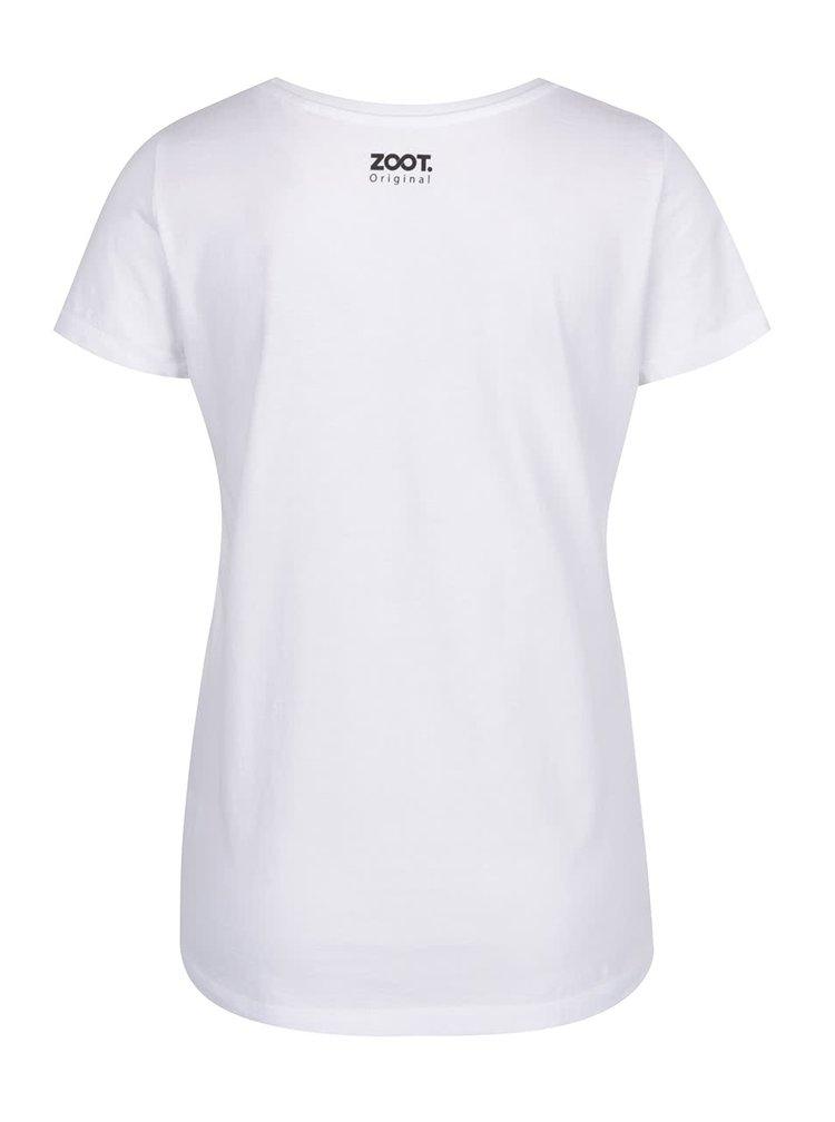 Tricou alb de dama ZOOT Original Always be an unicorn