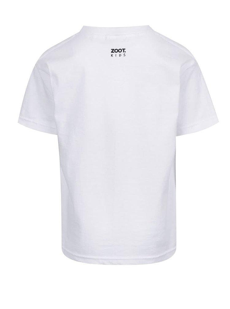 Tricou alb de băieți ZOOT Kids Lazy day