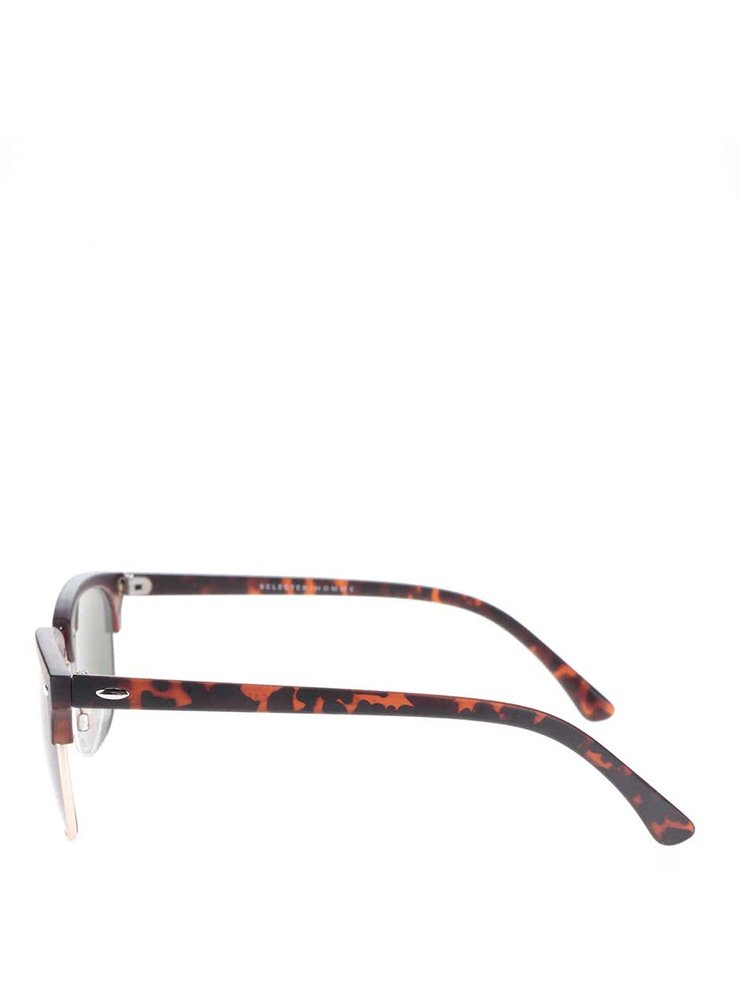 Ochelari de soare negri cu model maro Selectat Homme Bendix