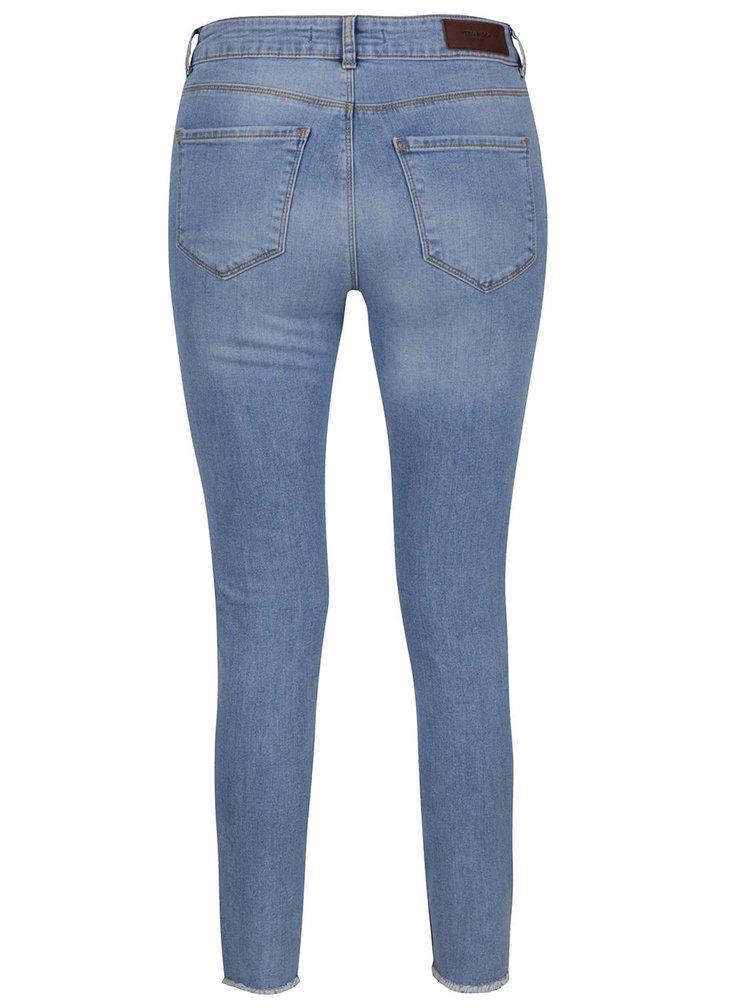 Světle modré slim džíny s potrahným efektem VERO MODA Seven
