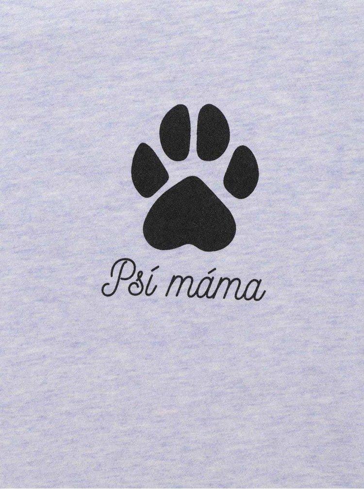 Modré dámské triko ZOOT Originál Psí máma