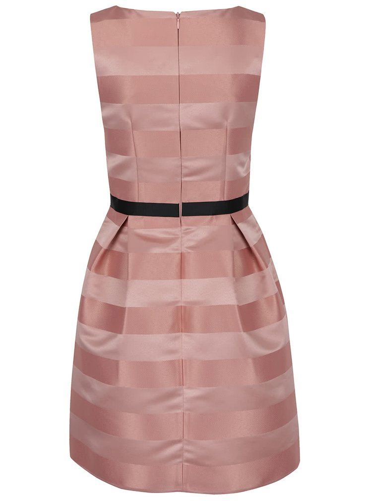 Starorůžové pouzdrové šaty s černým páskem Miss Selfridge