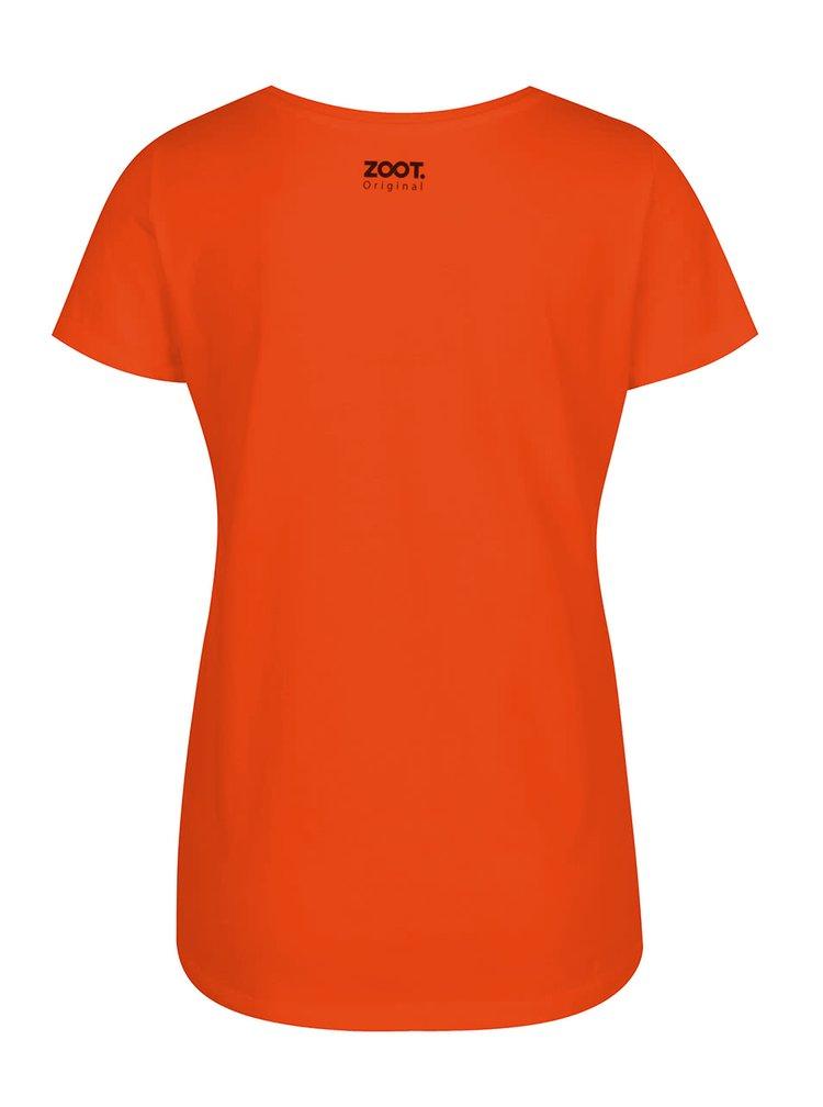 Tricou portocaliu de dama ZOOT Original Fox