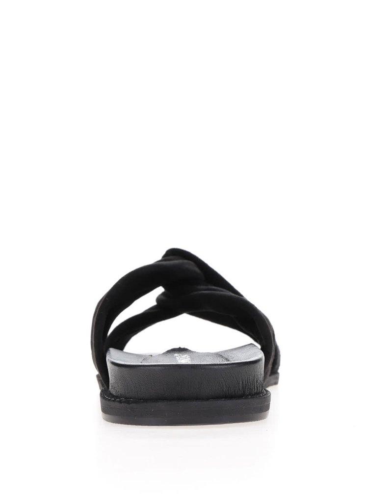 Černé semišové pantofle VERO MODA Celia