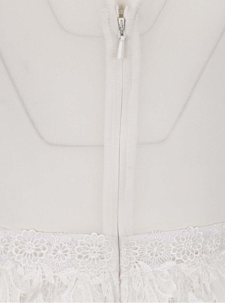 Krémové krajkové šaty Miss Selfridge