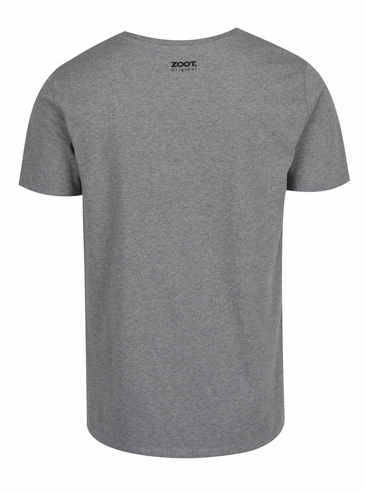 Tricou gri cu print pentru barbati ZOOT Original Eagle