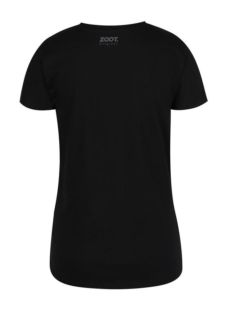 Tricou negru de dama ZOOT Original Whuu hu