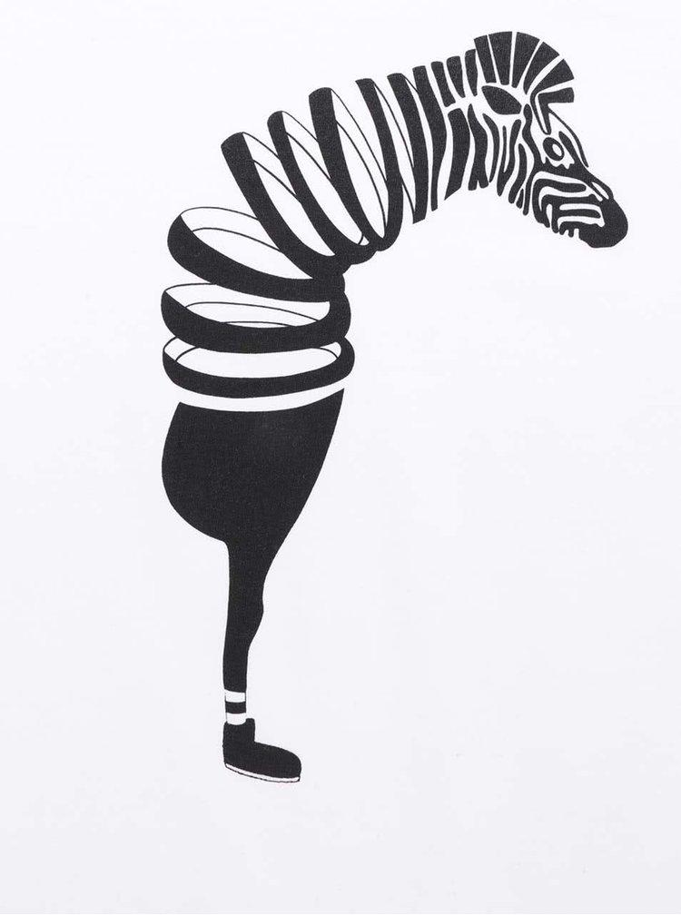 Bílé pánské triko ZOOT Originál Zebra