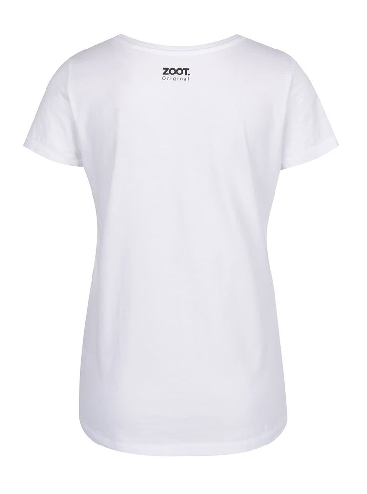 Bílé dámské triko ZOOT Originál Zebra