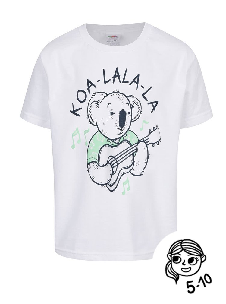 Tricou alb de baieti ZOOT Kids Koa_la