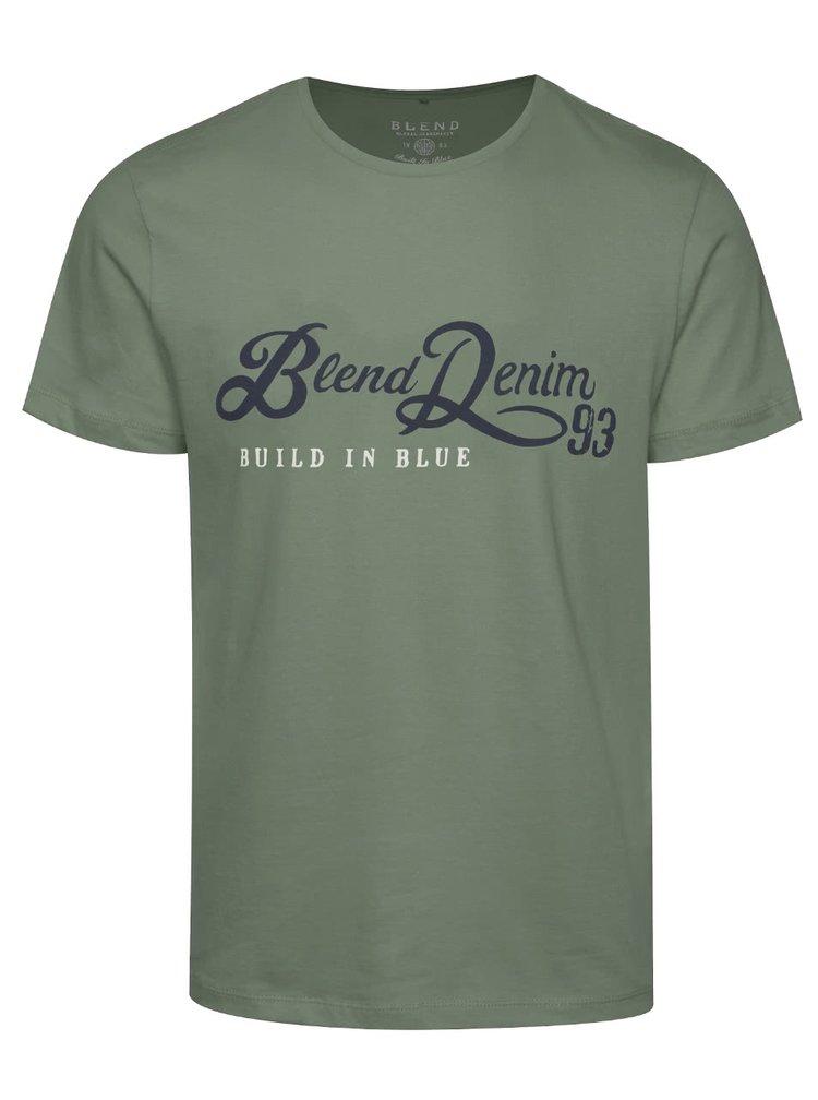 Khaki triko s potiskem Blend