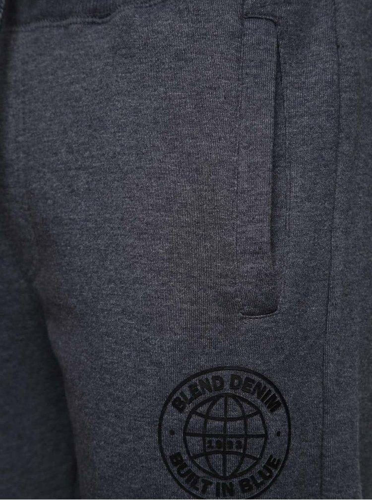 Pantaloni sport gri închis Blend cu buzunare