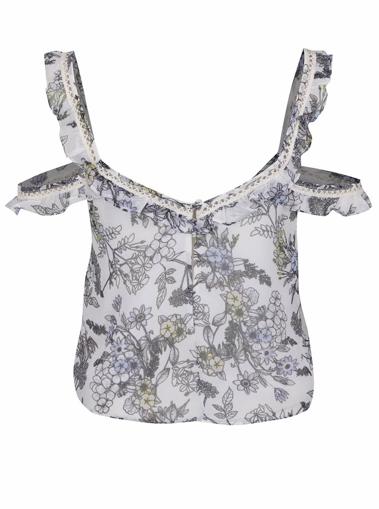 Crop top alb Miss Selfridge cu model