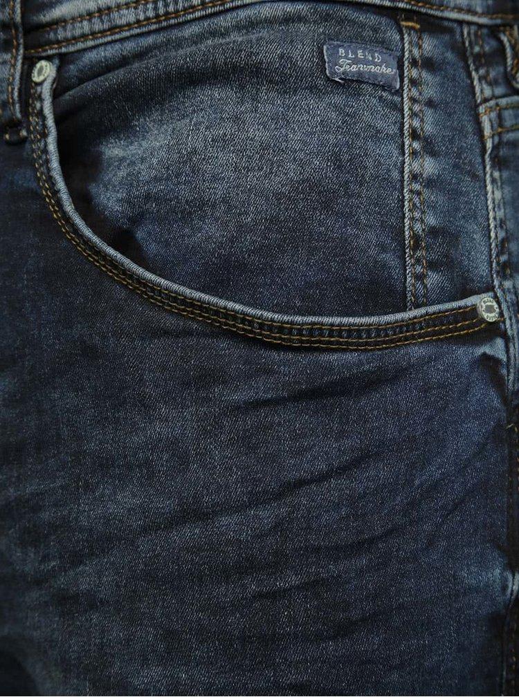 Tmavě modré slim džíny Blend