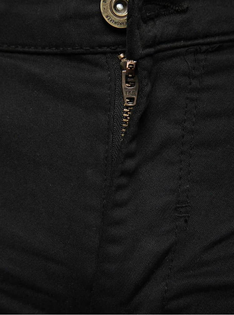 Pantaloni scurți negri Blend din denim