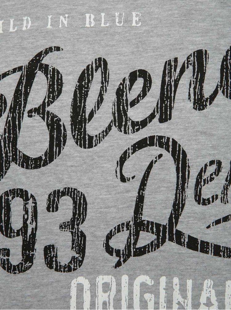 Tricou gri  Blend cu logo print